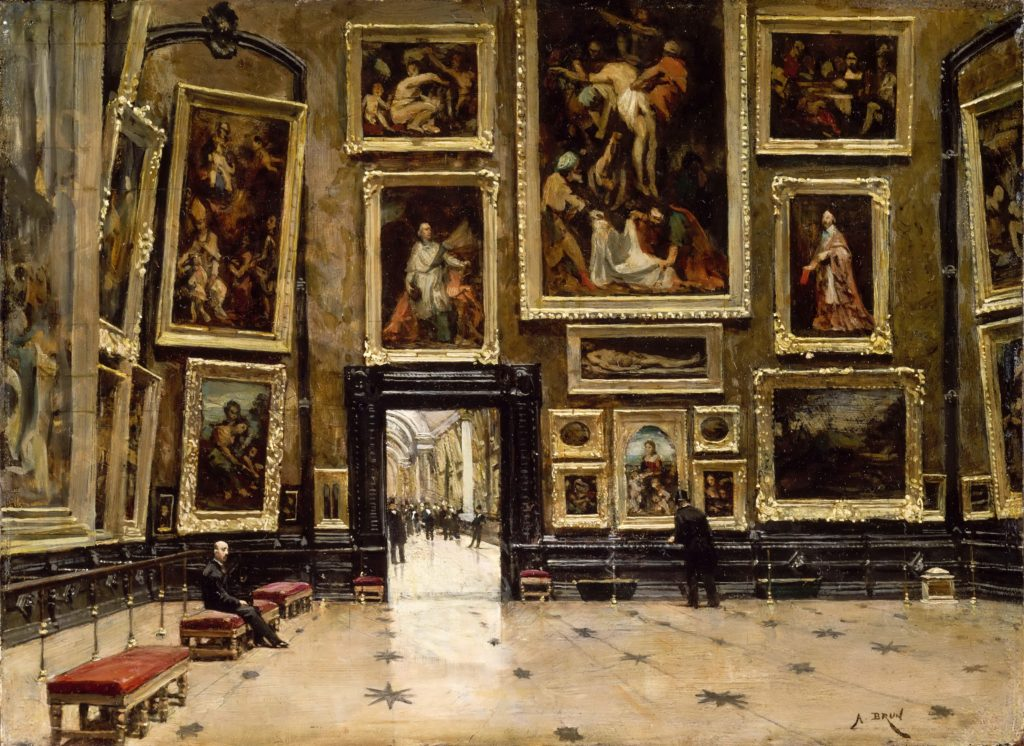 View-of-the-Salon-Carré-at-the-Louvre