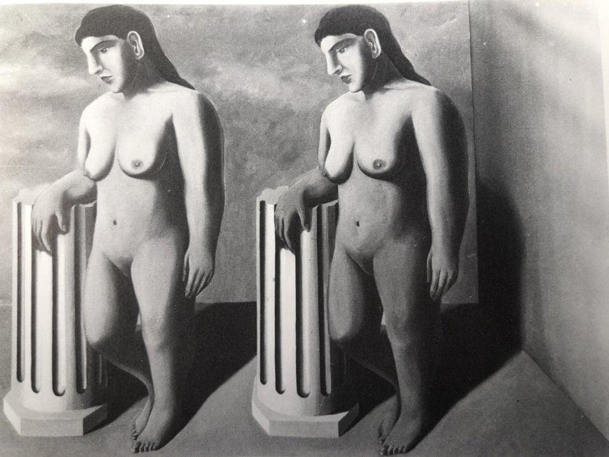 La pose enchantée, Magritte, 1927