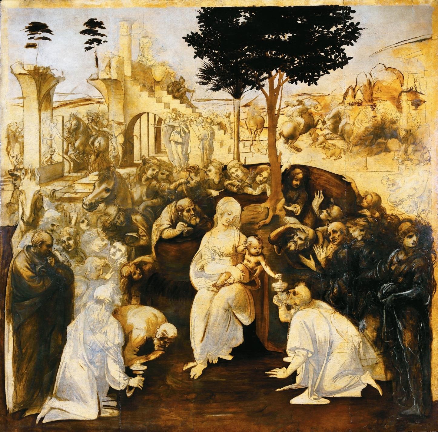 L'adorazione dei Magi di Leonardo